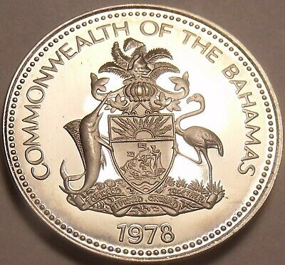 Bahamas 1978 Rare Proof~6,931 Minted~bahamian Sloop~free Shipping Aromatic Character And Agreeable Taste 2019 New Style Bahamas 25 Cents