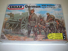 EMHAR  7204 - German WWI Artillery With 96 n/A 77mm Gun          1:72 Figures