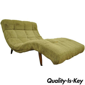 Admirable Details About Mid Century Modern Double Wide Green Wave Chaise Lounge Attr To Adrian Pearsall Ibusinesslaw Wood Chair Design Ideas Ibusinesslaworg