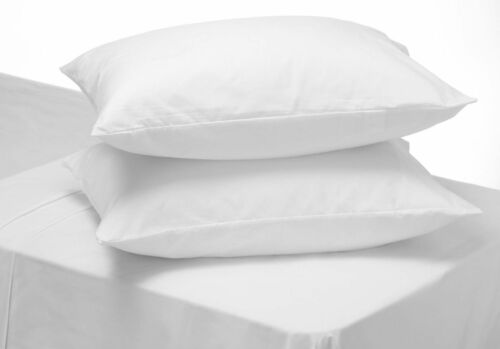 4 X WASHABLE PILLOW PROTECTORS PILLOW COVERS MILDEW FUNGAL PROOF STAIN RESISTANT