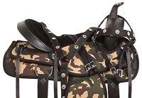 Gaited 16 17 18 Western Camo Synthetic Camouflage Trail Horse Saddle Tack Set