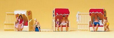 Acquista A Buon Mercato Preiser 10427 H0, In Poltrona Da Spiaggia, 6 Personaggi + 3 Cesti Spiaggia, Nuovo-mostra Il Titolo Originale In Viaggio