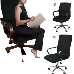 Image Is Loading Elastic Computer Office Rotating Chair Seat Cover Stretch