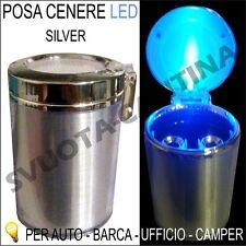 Posa cenere Portacenere Tuning silver 6,5x10cm auto LED per Punto SERIE 4