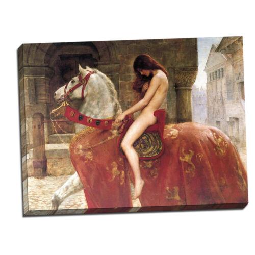"John Collier Lady Godiva Framed Canvas Giclee Print 34/""x27/"" V01-12"