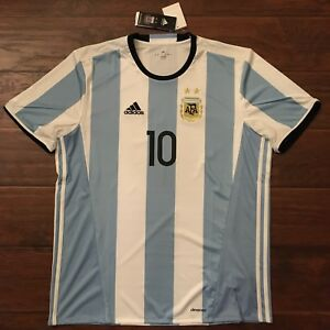 7b615d03 Details about 2016/17 Argentina Home Jersey #10 Messi XL ADIDAS Football  ALBICELESTE NEW