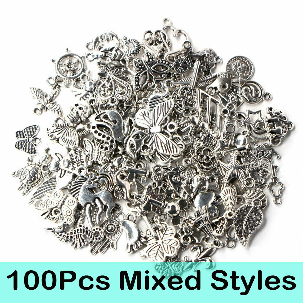 100PCS Tibetan Silver Star Charms Silver For Jewellery Craft embellishments