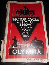 Katalog Catalogue Motor Cycle & Cycle Show Okt.31 - 5 Nov. 1927 Motorrad Bike