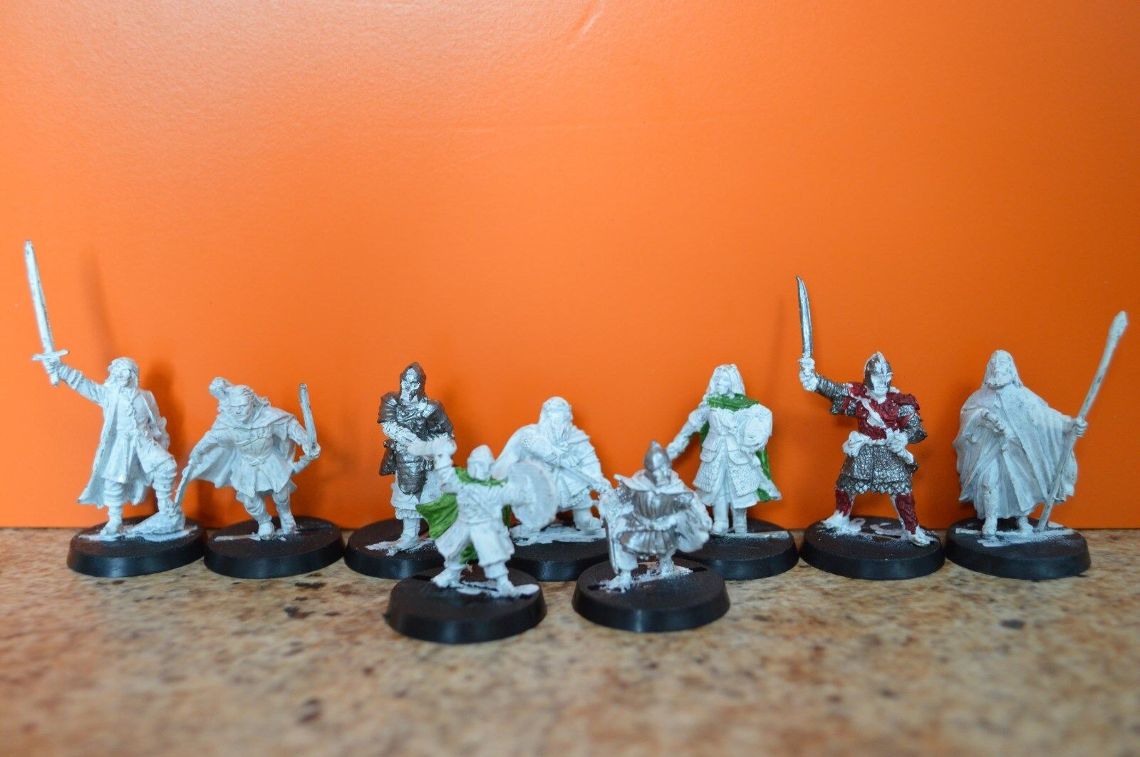 Games Workshop LOTR Metal Figures Heroes Of The West 9 Figures - Nov 2003