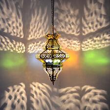Orientalische Hängeleuchte aus Messing Marokkanische Lampe Hängelampe MHKT4