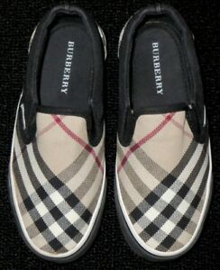 KIDS-BOYS-GIRLS-BURBERRY-NOVA-PLAID-CHECK-LOAFER-SHOES-SNEAKERS-EU-30-US-12