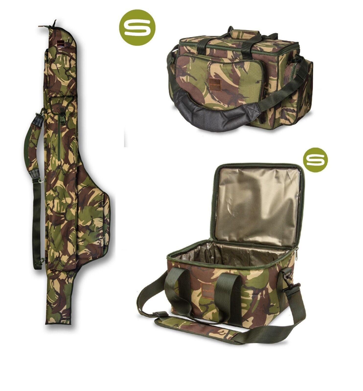 Saber DPM Camo 12ft 3 Rod Sleeve Saber DPM Carryall Saber DPM Camo Cooler Tasche