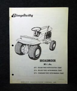 simplicity broadmoor manual enthusiast wiring diagrams u2022 rh rasalibre co Simplicity Broadmoor Hydro 14 Old Simplicity Broadmoor