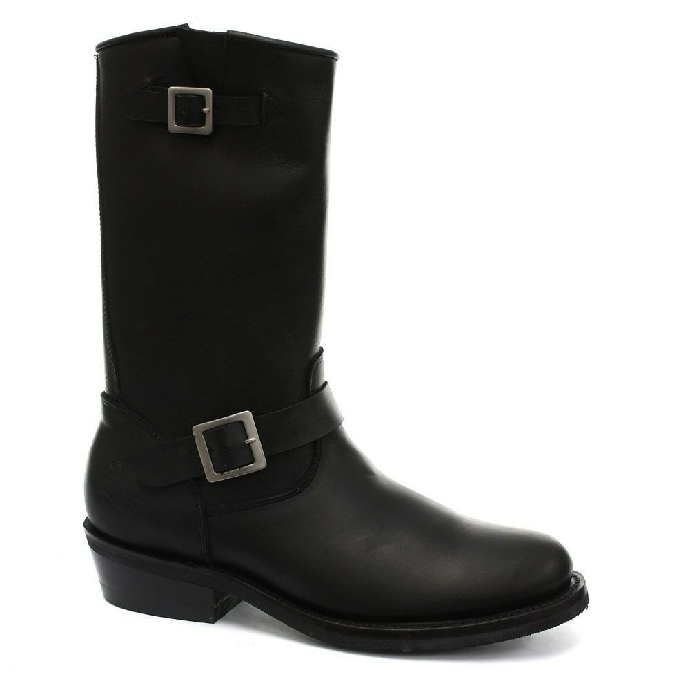 Grandes zapatos con descuento Grinders New Rebel Bike Ladies Biker Western Boot  Black Leather Cowboy Boots