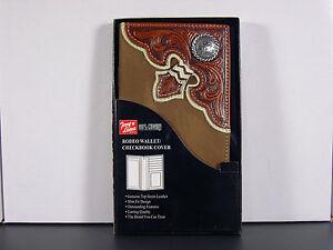 Western-Checkbook-Cover-Wallet-Billfold-Rnd-Concho-Arrowhead-Checkbook
