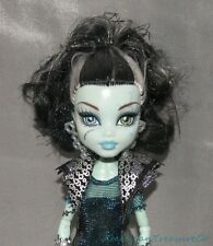 2012 MONSTER HIGH GHOULS RULE FRANKIE STEIN Fashion Doll w/Goth Prom Gown Outfit
