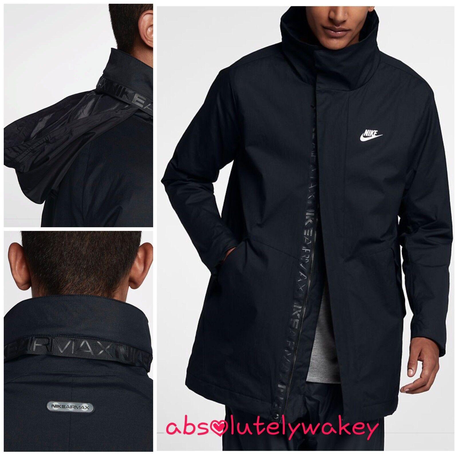 Nike Sportruházat Air Max férfi szőtt kabát fekete / kék