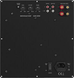 MONACOR-aktives-Subwoofer-Modul-SAM-500D-Class-D-fuer-Baesse-bis-46-cm-500-W