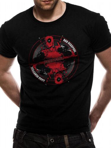 Marvel Comics Deadpool Bad Good Official Unisex Black T-Shirt Mens Womens