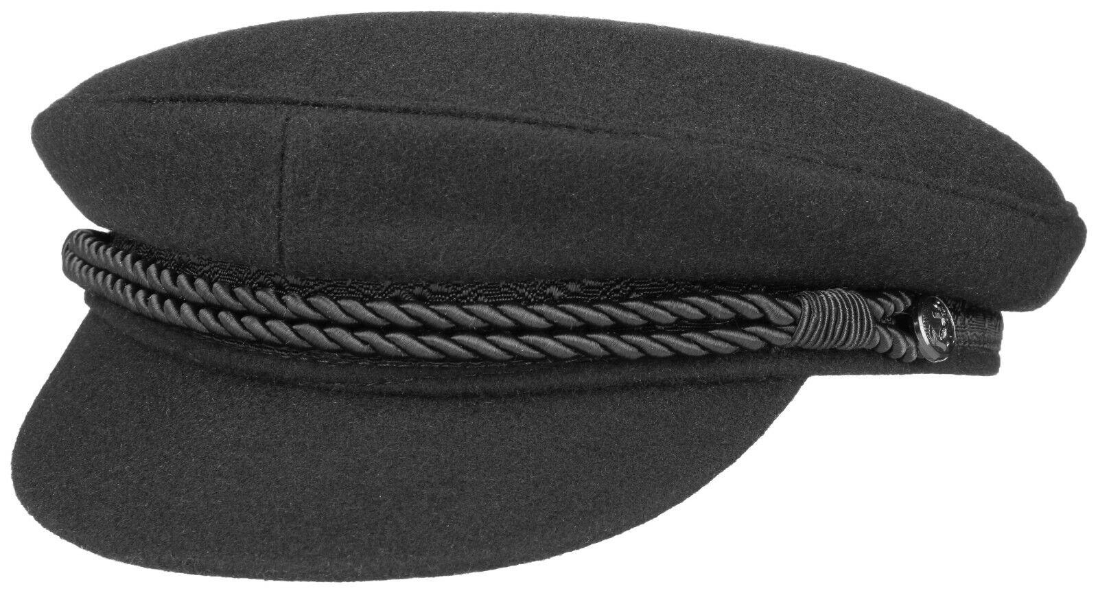 Hammaburg Elbsegler Hat Schiffer Hat Captain Hat 1 Black Wool New Trend