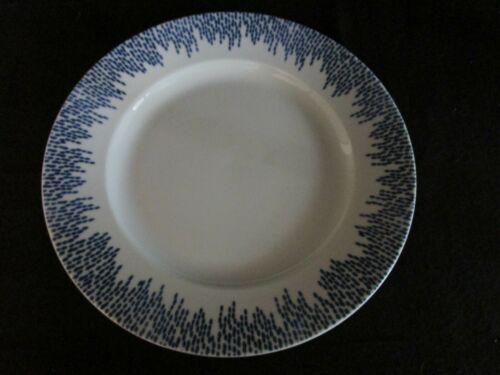 """MARTHA STEWART STOCKHOLM  11 3//8/""""  Blue /& White  Dinner Plate"""