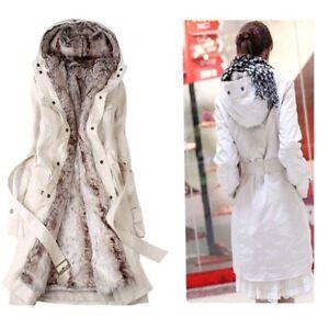 Winter-Women-039-s-Thicken-Warm-Coat-Hooded-Parka-Overcoat-Long-fur-Jacket-Outwear