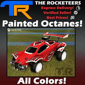 XBOX-ONE-Rocket-League-Every-painted-Octane-Import-Car-White-Crimson-Black