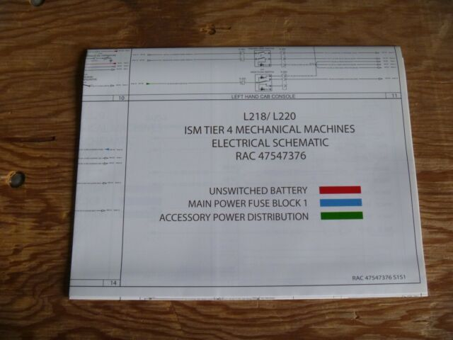 New Holland L218 L220 Ism Tier 4 Electrical Wiring Diagram
