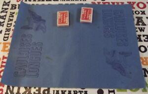 Ancien-Tapis-de-Jeu-de-cartes-Publicitaire-cigarette-Gauloise-casque-embleme