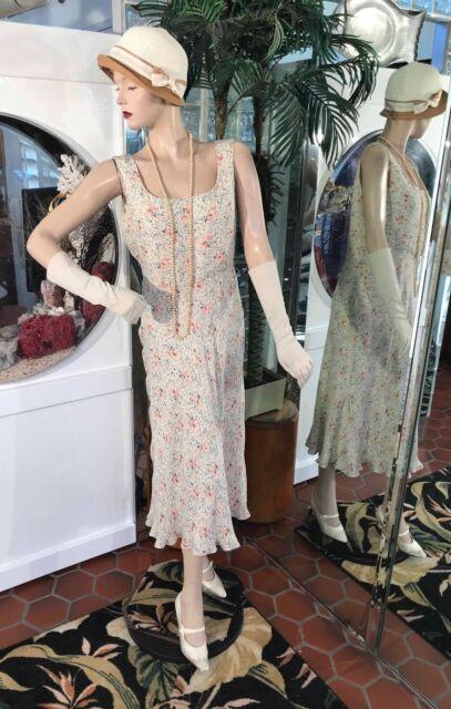 1920s DRESS 1930s FLAPPER HAT Modern Millie GATSBY SILK DAYTIME RALPH LAUREN 12P