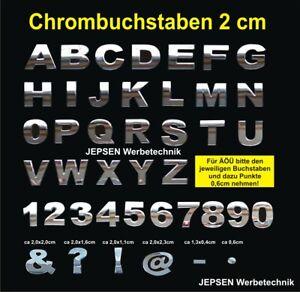 5-Zeichen-3D-Chrom-Buchstaben-2cm-Chrombuchstaben-Aufkleber-z-B-BULLI-oder-TURBO