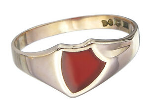Herren-Ring-Antik-034-Karneol-034-333er-Rotgold-ca-1900