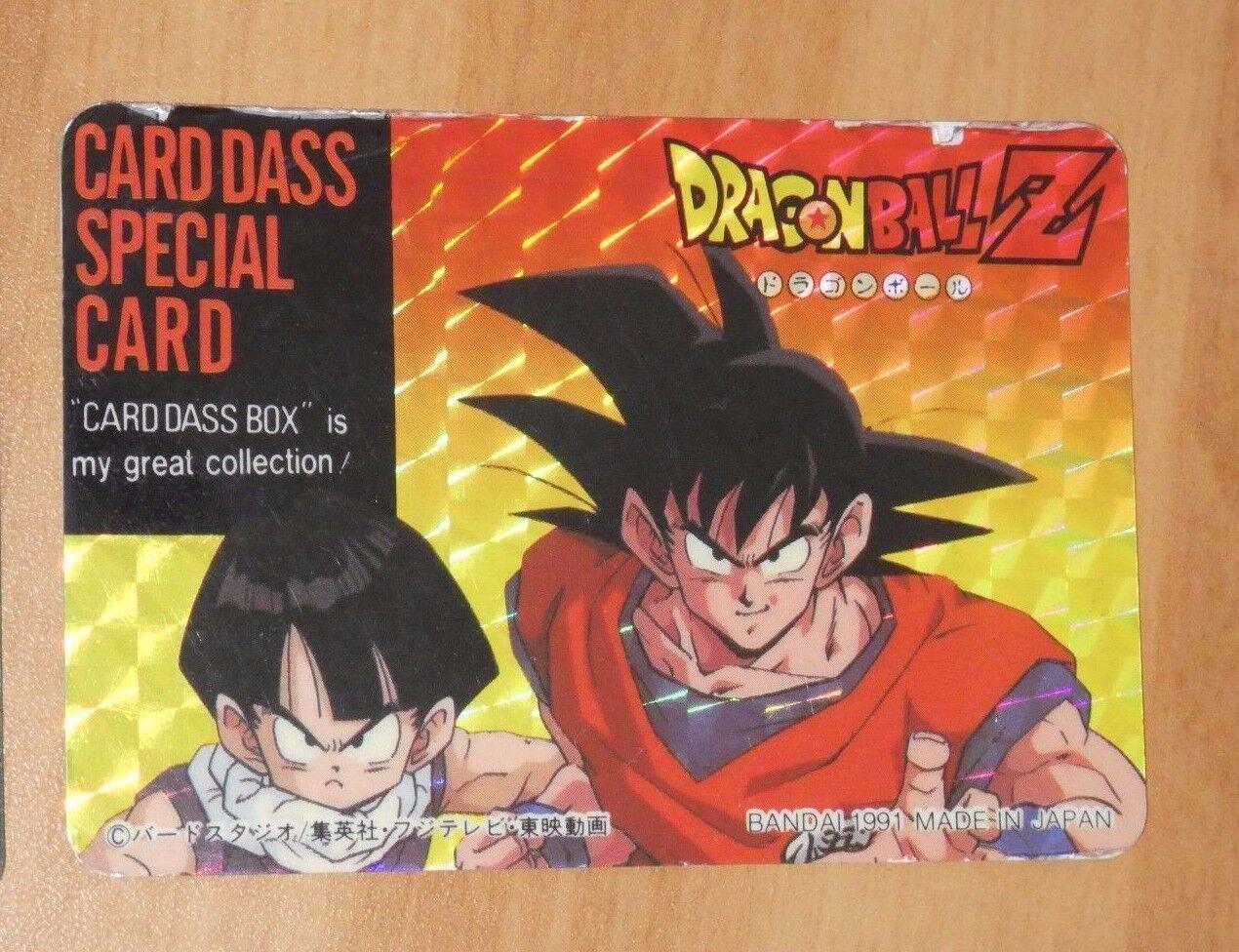 Dragon ball z dbz hervorruft, carddass besondere karte carte selten aus japan 1991     01