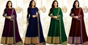 Designer Bollywood Party Wear Salwar Kameez Indian Anarkali Salwar Costume Ko-afficher Le Titre D'origine