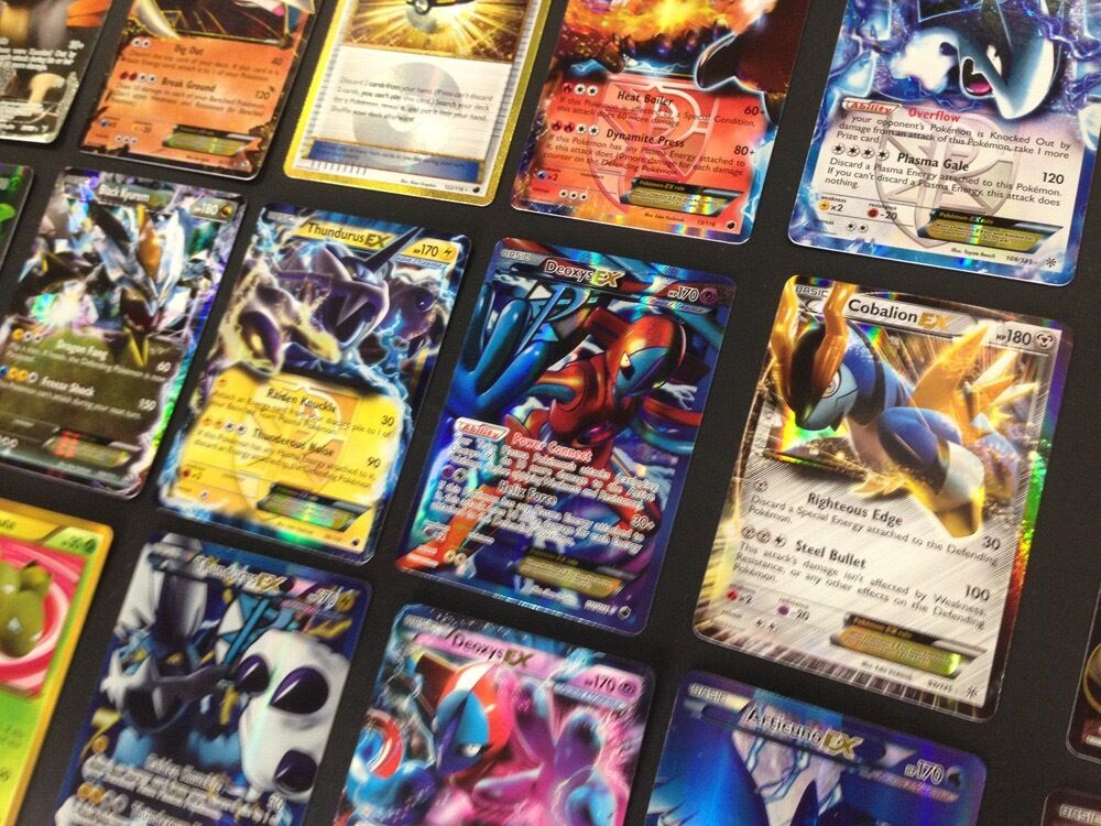 Pokemon Card Lot 100 TCG Cards Ultra Rare Included - GX EX and Mega EX