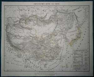 1848-Sohr-Berghaus-map-CHINESE-EMPIRE-AND-JAPAN-74