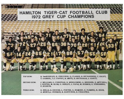 1972 Grey Cup Champions Hamilton Tiger-Cats 8x10 Color Team Photo