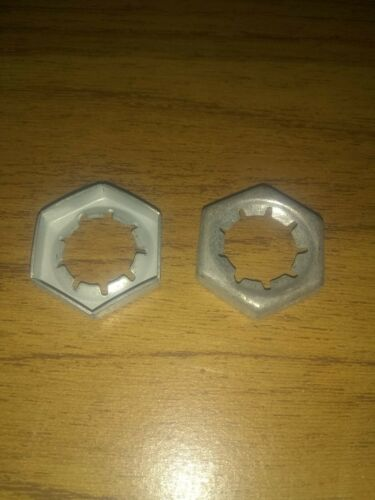"""2 NOS OEM Gravely Tractor Stamped Nut 107354 Or 07015100 9//16/""""-18"""