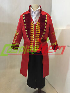 The Greatest Showman P T Barnum Red Outfit Cosplay Costume Circus