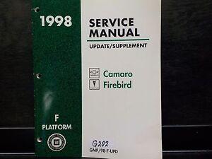 Details about 1998 CAMARO FIREBIRD SHOP SERVICE REPAIR MANUAL UPDATE  SUPPLEMENT (G202)