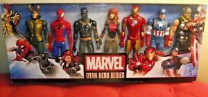 Marvel-Titan-Hero-Series-12-034-Action-Figures-7-Pack-Inc-Avengers-Loki-Figure