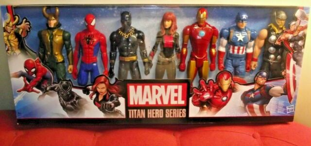"Marvel Avengers 7 Pack 12"" Action Figures Incl Loki Black Panther Titan Hero"