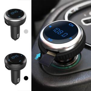 Transmetteur-FM-Bluetooth-sans-fil-MP3-USB-Kit-voiture-mains-libres-LCD-Pr-DE