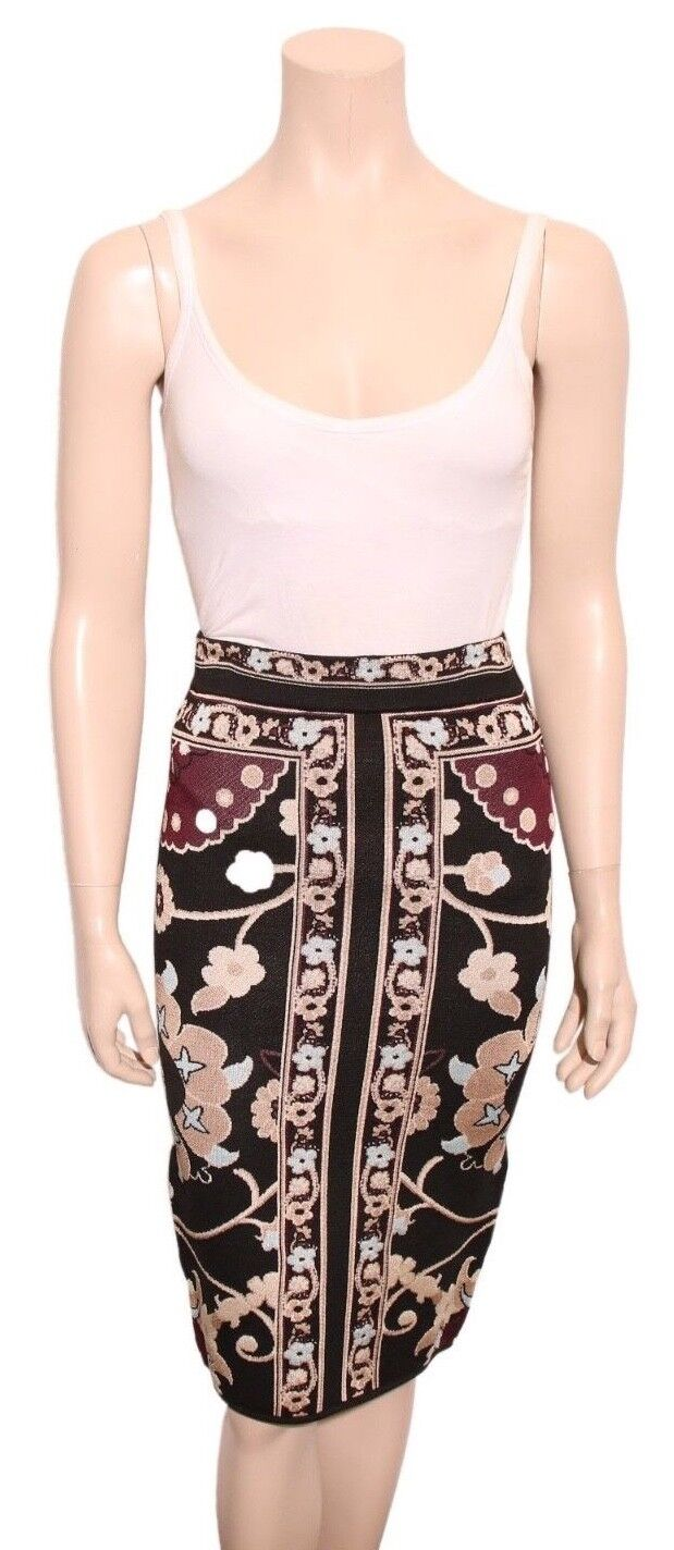 TORN BY RONNY KOBO Printed Knit Skirt (SIZE M)
