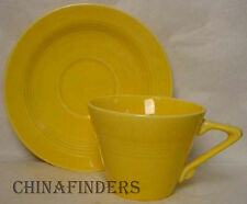 HOMER LAUGHLIN china HARLEQUIN pattern YELLOW Cup & Saucer Set