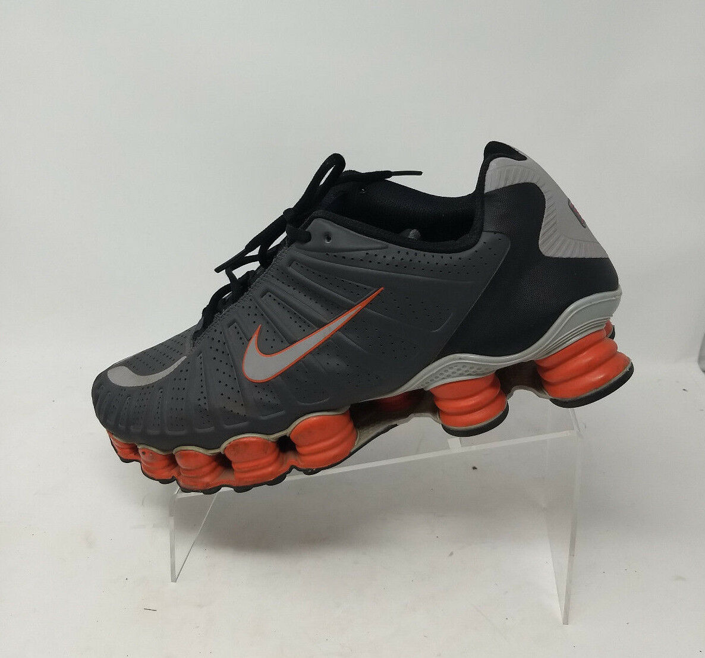 Men's Nike Shox TLX Sz 13 488313-018 Dark Grey Wolf Black Team Orange