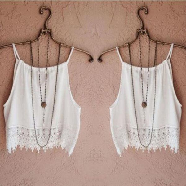 Fashion Women Summer Lace Tops Short Sleeve Blouse Casual Tank Tops Tee T-Shirt