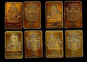 COLLECTION DE 4 LINGOTS PL. BRONZE : LOUIS XIII, XIV, XV, XVI - France - EBay MAGNIFIQUE COLLECTION DE 4 LINGOTS PLAQUES BRONZE REPRESENTANT LES ROIS BOURBONS DE LOUIS XIII A LOUIS XVI En Parfait état, chaque lingotin sous capsule plastifiée mesure 44mm28mm3mm Chaque lot est composé 4 lingots plaqués bronze de : - - France