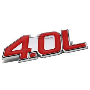 AUTO METAL BUMPER TRUNK GRILL FENDER EMBLEM LOGO TRIM BADGE CHROME RED 1.5 1.5L