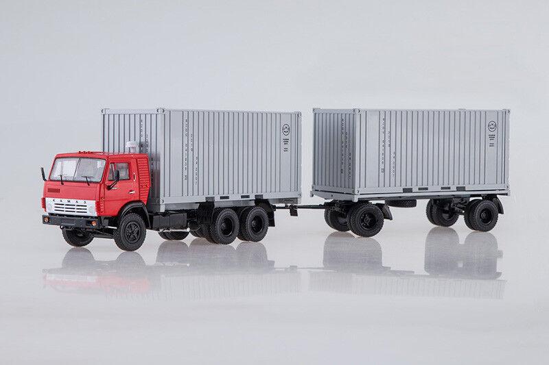 Kamaz 53212 camión de contenedor + GKB-8350 semi-remolque 1 43 Modelos Escala de inicio SSM7